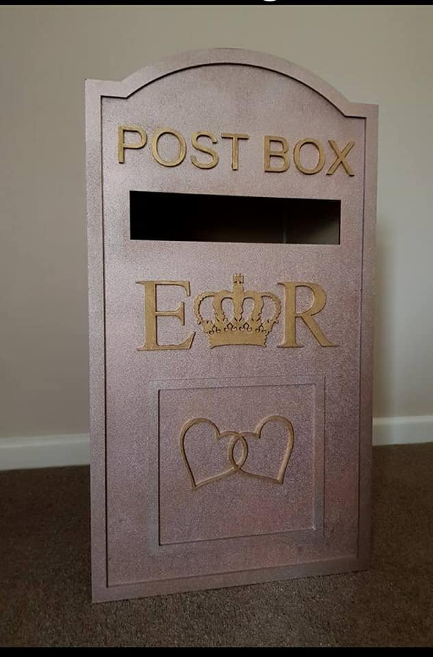 Rose Gold Post Box