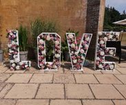 4ft LOVE in Flowers