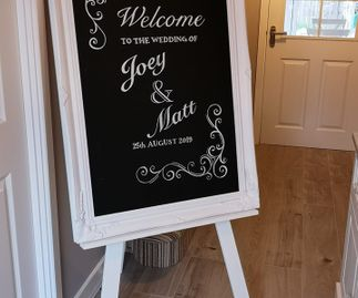 Extra Large Chalk Board Welcome Sign