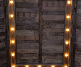Rustic Photo Booth Lights
