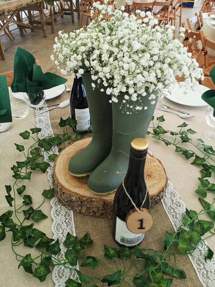 Wellie Boot Centre Pieces