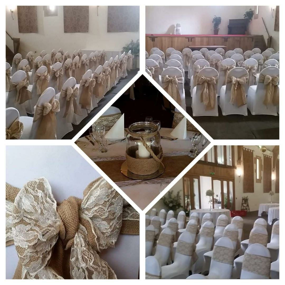 Rustic Hessian & Lace